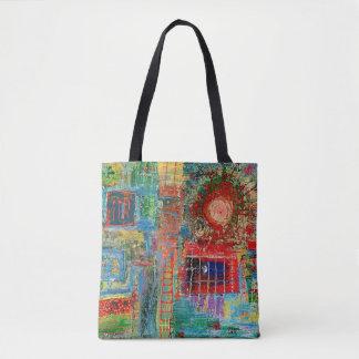 "Abstract Art Tote Bag ""Sunburst"""