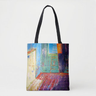 "Abstract Art Tote Bag ""Window Ladder"""