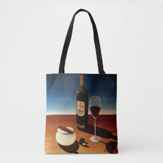 "Abstract Art Tote Bag ""Wine & Cigars"""