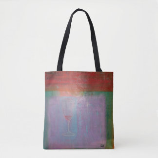 "Abstract Art Tote Bag ""Wine Glass"""