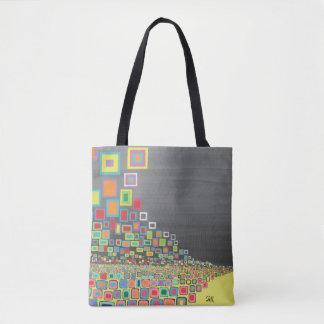 """Abstract Art Tote Bag """"Yellow Road"""""""