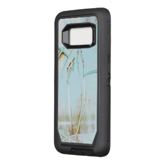 Abstract art unique blue surface and design OtterBox defender samsung galaxy s8 case