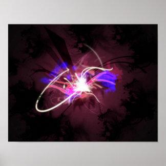 Abstract Art Universe, Exploding, Big Bang Poster