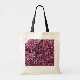 Abstract Art with Flowers Bag - Burgundy Pink