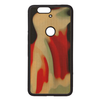 Abstract Art Wood Nexus 6P Case