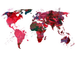 Abstract world map posters prints poster printing zazzle ca abstract art world map poster gumiabroncs Image collections