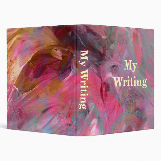 Abstract Art Writing Binder Template