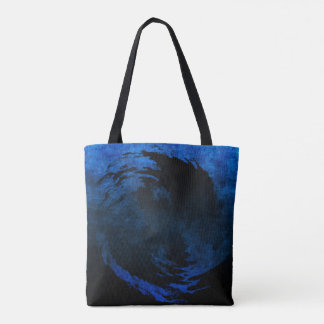 Abstract Art Yin Yang with Grunge Effect Tote