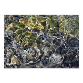 Abstract Artful Yellow Water Poster