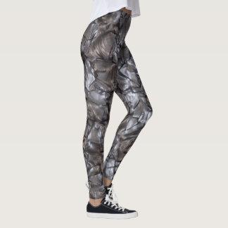 Abstract Artificial Nacre Leggings