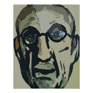Abstract Artist Portrait Poster