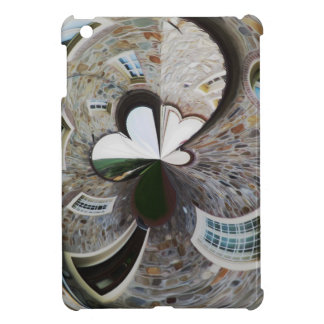 Abstract artistic background of rural house case for the iPad mini