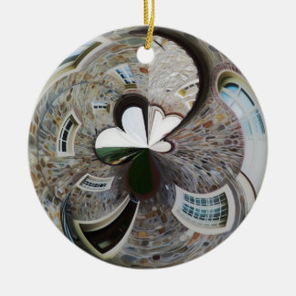 Abstract artistic background of rural house ceramic ornament
