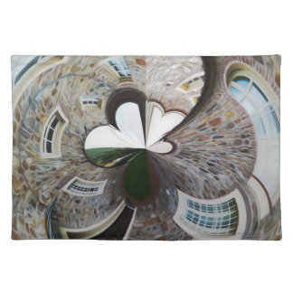 Abstract artistic background of rural house placemat