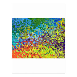 abstract artistic colorful design postcard