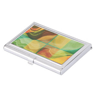 Abstract artwork business card holder