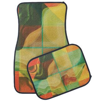 Abstract artwork car mat