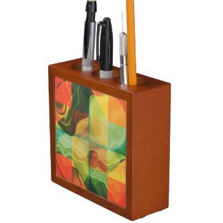 Abstract artwork desk organizer