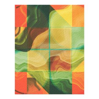 Abstract artwork flyer design