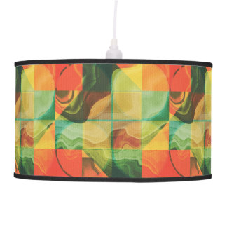 Abstract artwork hanging pendant lamp