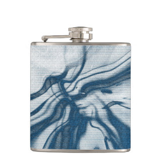 Abstract artwork hip flask