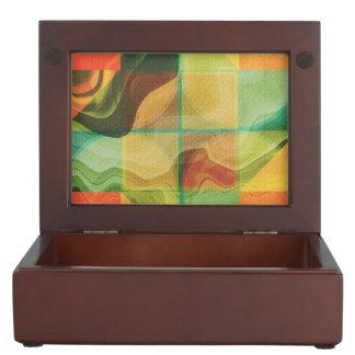 Abstract artwork keepsake box