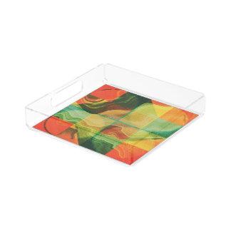 Abstract artwork perfume tray