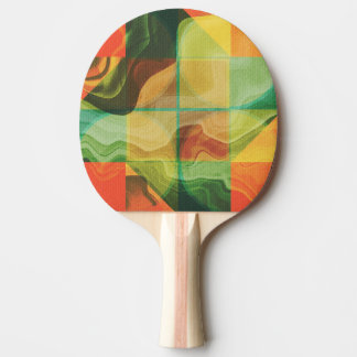 Abstract artwork ping pong paddle