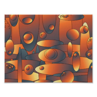 Abstract artwork poster