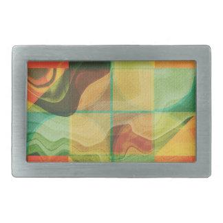 Abstract artwork rectangular belt buckles