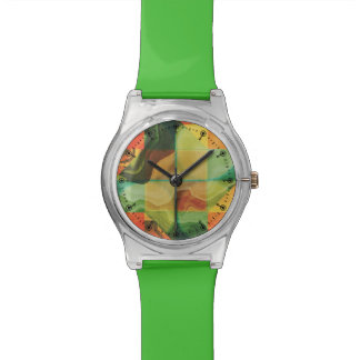 Abstract artwork watch