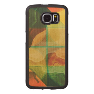 Abstract artwork wood phone case