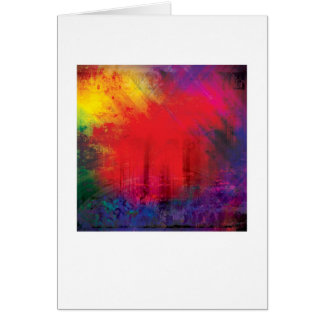 Abstract Arty Greetings Card - NEW YORK
