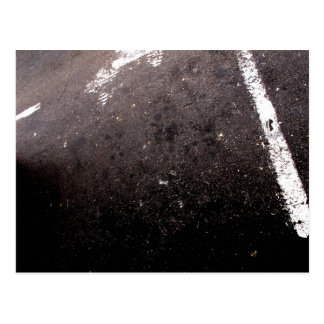 Abstract asphalt postcard