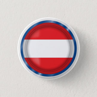 Abstract Austria Flag, Austrian Colors Button
