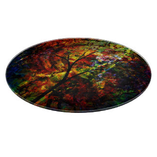 Abstract Autumn Cutting Board