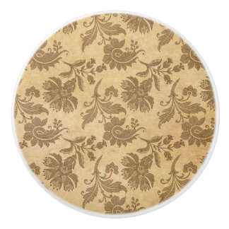 Abstract Autumn/Fall Flower Patterns Ceramic Knob