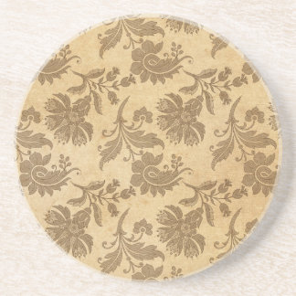 Abstract Autumn/Fall Flower Patterns Coaster