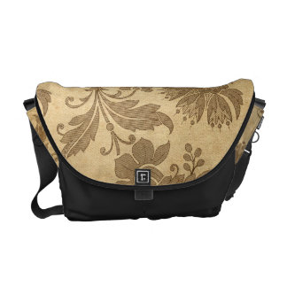 Abstract Autumn/Fall Flower Patterns Courier Bags