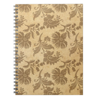 Abstract Autumn/Fall Flower Patterns Notebooks
