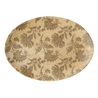 Abstract Autumn/Fall Flower Patterns Porcelain Serving Platter