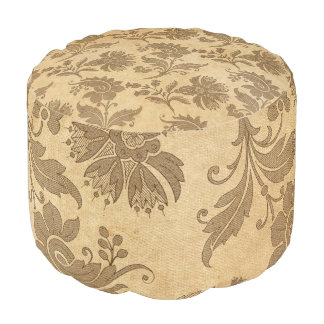 Abstract Autumn/Fall Flower Patterns Pouf