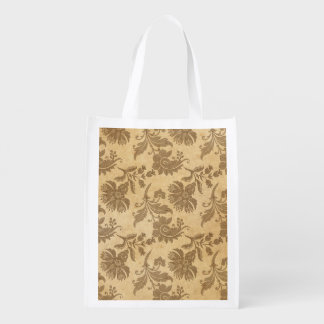 Abstract Autumn/Fall Flower Patterns Reusable Grocery Bag