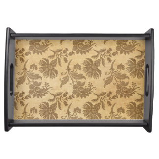 Abstract Autumn/Fall Flower Patterns Serving Tray