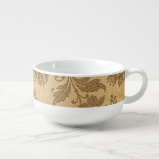 Abstract Autumn/Fall Flower Patterns Soup Mug