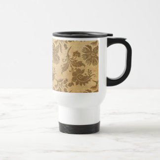 Abstract Autumn/Fall Flower Patterns Travel Mug