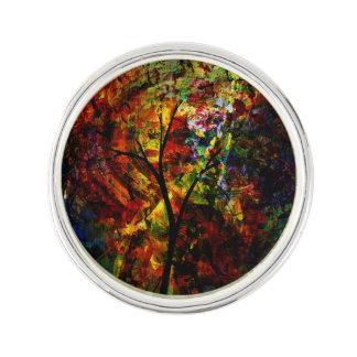 Abstract Autumn Lapel Pin