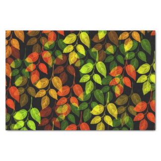 Abstract Autumn Leaf Pattern Tissue Paper