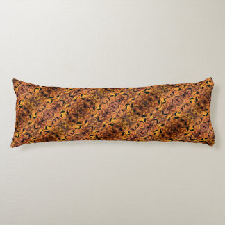 Abstract Autumn Leaf Silhouette Pattern Body Pillow