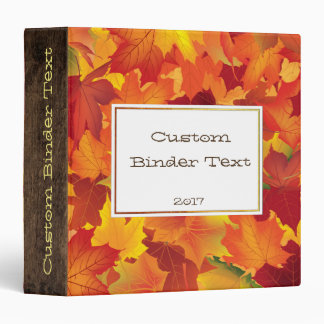 Abstract Autumn Leaves Pattern Recipe/Photo Binder